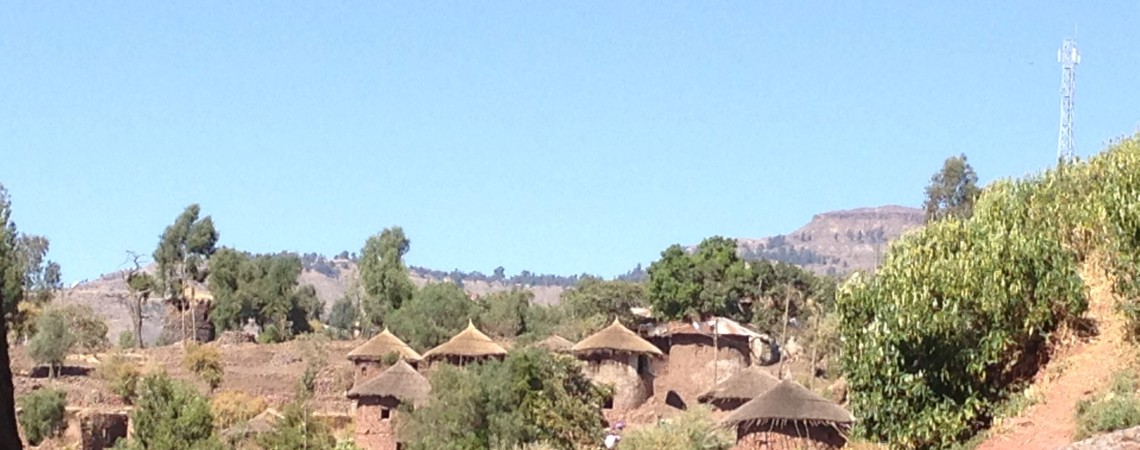 The old houses in Lalibela